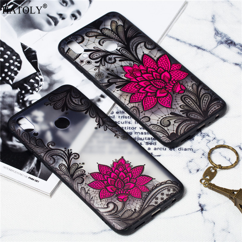 Huawei Y9 2019 Case Cover Silicone Phone Case For Huawei Y9 2019 Cover Lace Rose Flower Case Huawei Y9 2019 Funda Phone Capa
