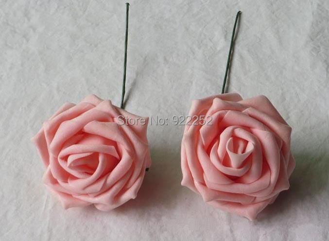 Lacoste Ling Wedding Wedding Projects 6 Head Table: 6CM Artificial Floral Eva Foam Big Roses,stem,diy Kissing
