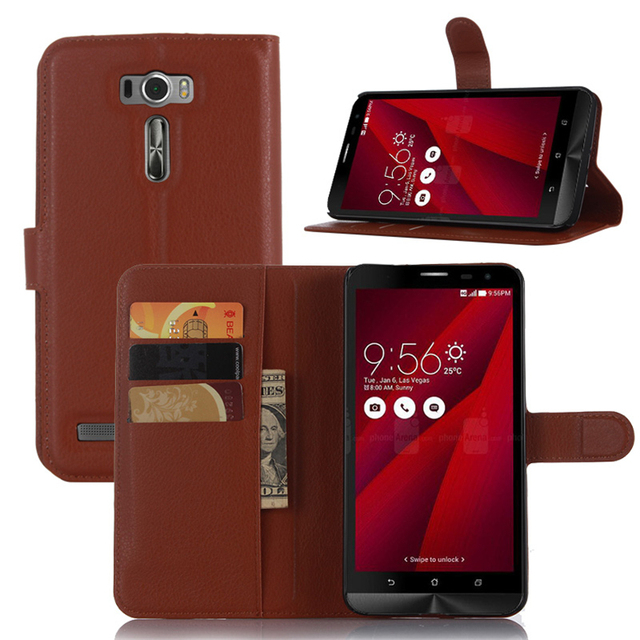 pretty nice 57e51 029b4 US $3.57 13% OFF Luxury Phone Case For ASUS ZenFone 2 Laser ZE601KL Z011D  6.0'' Stand Wallet Leather Flip Cover For ASUS ZE601KL Bag Skin Cases-in ...