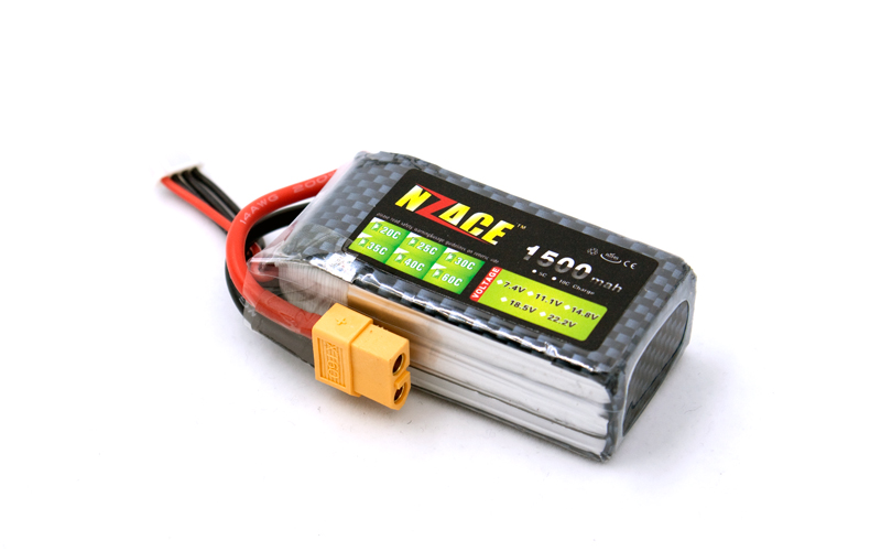 New Original NZACE Power LiPo Battery 11.1V 1500Mah 3S 40C MAX 60C T/XT60 Plug For RC Car Airplane Helicopter Part стоимость
