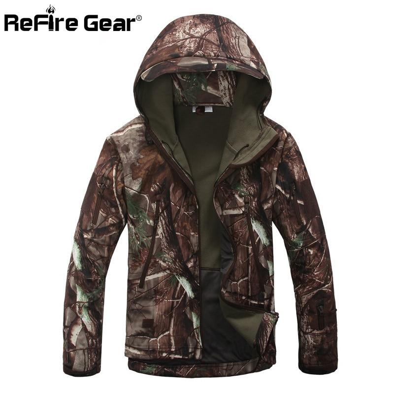 Скрытень Акула кожи Soft Shell V4 военно-тактические куртка Для мужчин Водонепроницаемый ветрозащитный теплое пальто камуфляж с капюшоном камуфляж армии Костюмы