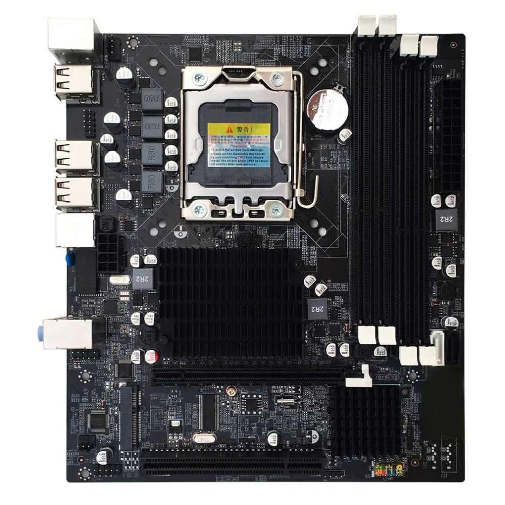 X58 LGA 1366 DDR3 32 г настольных ПК Материнские платы компьютерных плат  подходит для сервера ECC