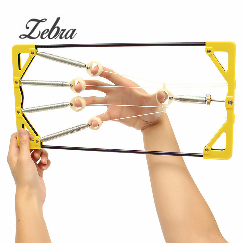 Zebra Adjustable Strengthen Muscle Finger Hand Power Up Trainer Hand Grip Exerciser For Guitar Musical Instruments Player Parts mini strength finger exerciser kids child mini finger exerciser guitar bass piano beginner trainer fa 12 guitar accessories