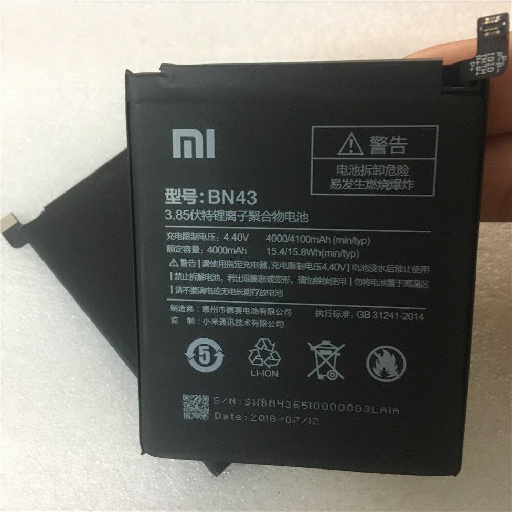 100% Original de nuevo BN43 batería de 4000 mAh para Xiaomi Redmi Note 4X batería en stock con número de seguimiento