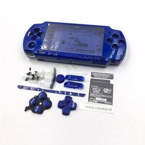 Image 2 - E ハウス用psp 2000 psp2000ゲームコンソールフルセットシェルハウジングケースカバー付きボタンキット交換