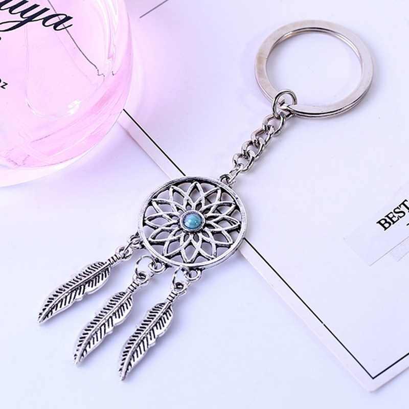 Брелок Подарок Сплав христианский кулон брелок для ключей Ловец снов брелки для автомобиля кольцо для автомобильных ключей-Стайлинг авто аксессуары