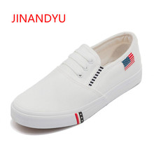Women Shoes 2018 Flats New Ladies White Canvas Shoes Female Spring and Summer White Casual Shoes Woman Students Women Sneakers