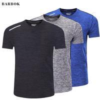 BARBOK для мужчин спортивная рубашка быстросохнущая сжатия кофта для бега, спортзала тренировки Бодибилдинг плотная футбол баскетбол трикотаж