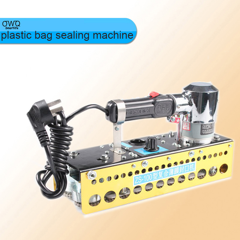 wholesale Portable continuous plastic bag sealing machine+ZS-100 manual chain compound film bag sealer 1pc  цены