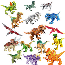 Jurassic Single Sale Dinosaurs park Pterosauria Triceratops Indomirus T-Rex World Figures Bricks Toys Building Blocks
