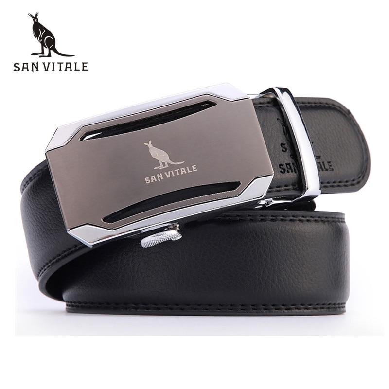Cinturón de moda para hombre 2016 Nuevo diseñador Hebilla automática Cinturón de cuero de cuero de vaca hombres 110 cm-130 cm Cinturones de lujo para hombre envío gratis