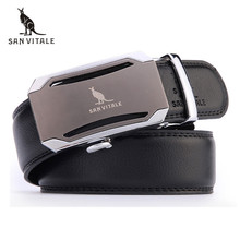 Mens fashion Belt 2017 New Designer Automatic Buckle Cowhide Leather men belt 110cm-130cm Luxury belts for male free shipping
