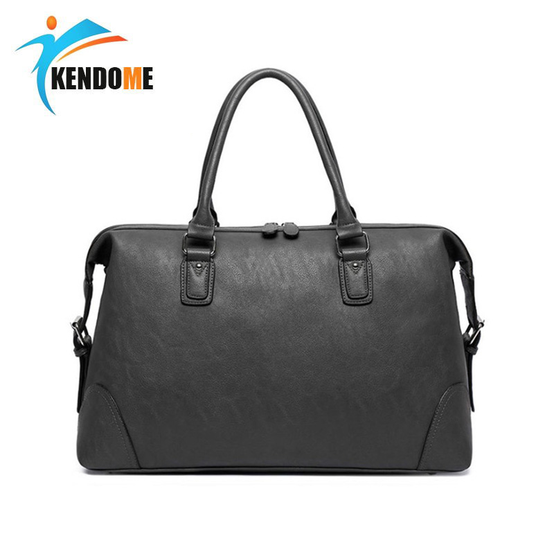 Large Capacity Top PU Leather Outdoor Waterproof Sports Gym Bag Men And Women Travel Handbags Fitness Briefcase Leisure Bag