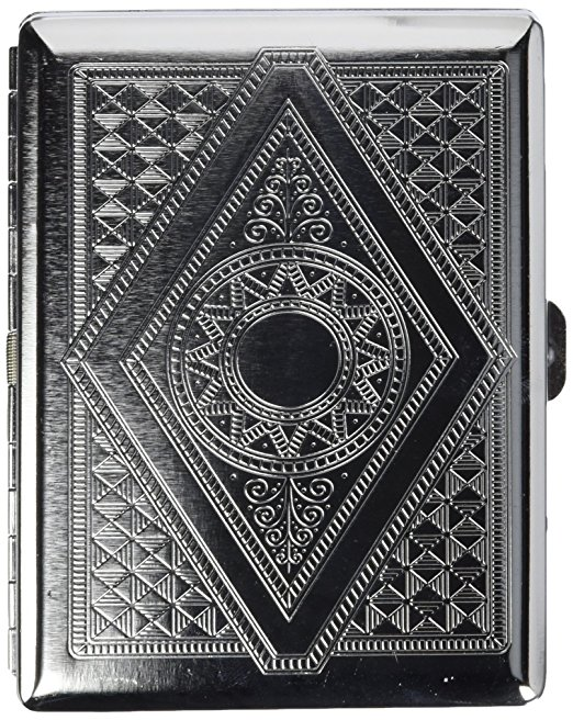 New 1pcs Silver Vintage Victorian Scroll Compact (20 83s) Metal-Plated Cigarette Case Box Holder & Stash Box men gift cg8191