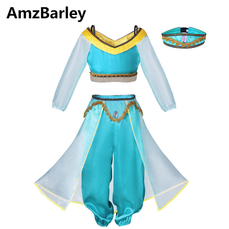 AmzBarley Kids Clothes Set Clothing Metal Beads Belly Dance Tops Pants Oriental Dancing Dancer Indian Costumes Cosplay Makeup luminous costumes glowing gloves shoes light clothing men dance clothes for holiday lighting decor