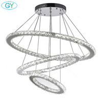 Fashion Remote Control LED Crystal Pendant Lights Luxury Decoration Ceiling Pendant Lamp Chandelier Lighting GY HM