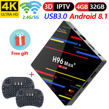 PROMOCIÓN  Android 9,0 H96 Max Tv Box Ram Rockchip Rk3318 Quad Core 2,4G/5G  Wifi reproductor