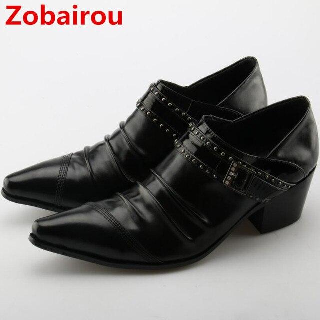 927636e7f2a Chaussure Homme Alligator chaussures pour hommes en cuir véritable hommes  chaussures talons hauts bout pointu classique