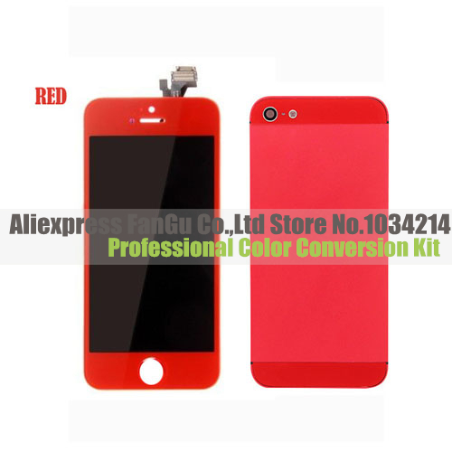 For Apple Iphone 5 Red Color Display Lcd Screen Digitizer Red Frame Battery Back Housing Assembly Batteries Candle Battery Dell Latitude D630battery Submarine Aliexpress