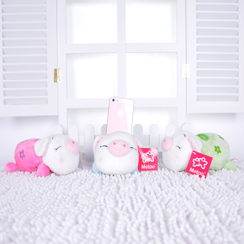 1Pcs 15Cm Metoo Kawaii Plush Cartoon Mobile Phone Seat Baby Toys Kids Children Stuffed Pig Toys Soft Cute Phone Holder Dolls baby toys