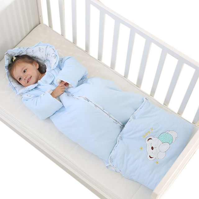 2016 Fall / Winter New Cartoon Bear Baby Pattern Space Cotton Thickening Warm Multi-Functional Baby Lengthened Sleeping Bag