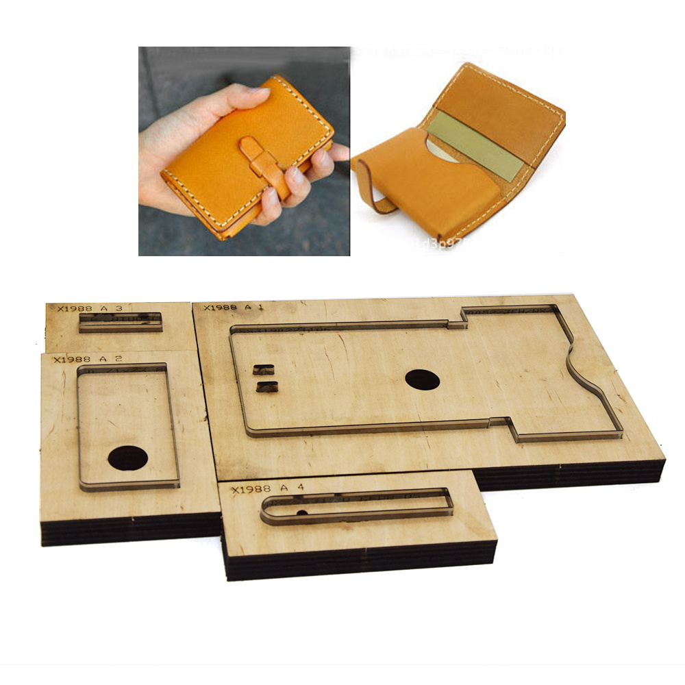 DIY Leather Craft Template Envelope Card Holder Small Wallet Die Cutter Cutting Knife Mould Hand Machine Punch Tool 115x75mm