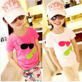 Brand 2015 Cotton Girls Boys T shirts For Baby Girl boy Summer Short Sleeve Children Kids Clothes Blouse T-shirts Free Shipping