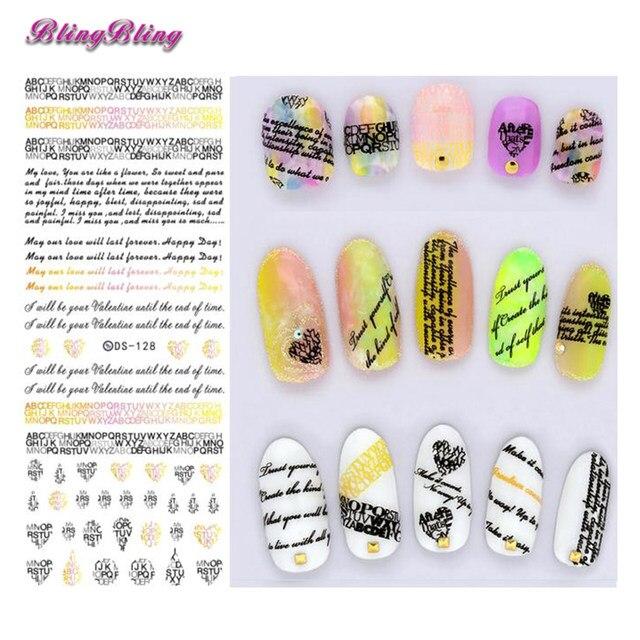 Online Shop 2 Sheet Nail Art Designs Water Transfer Nails Sticker ...