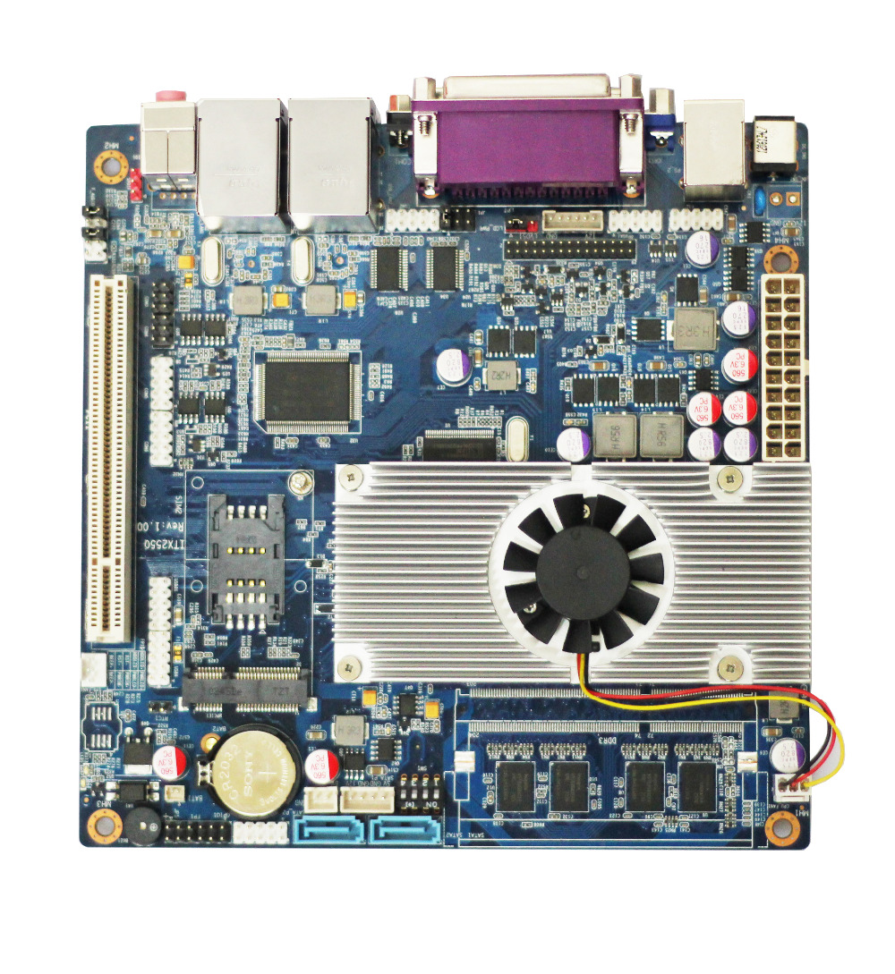 12v Mainboard itx2550 motherboard ddr3 ram supported motherboard with intel processor ultra thin pc d525 motherboard fanless mini itx motherboard with onboard ddr3 2gb ram
