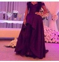 Denias Bridal Dresses V neck Evening Dresses Satin Ball Gown Long Gowns 2015