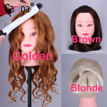 20 Golden Professional Styling Head Wig Stand Women Makeup Hairdressing Dummy Doll Training Hair Mannequin