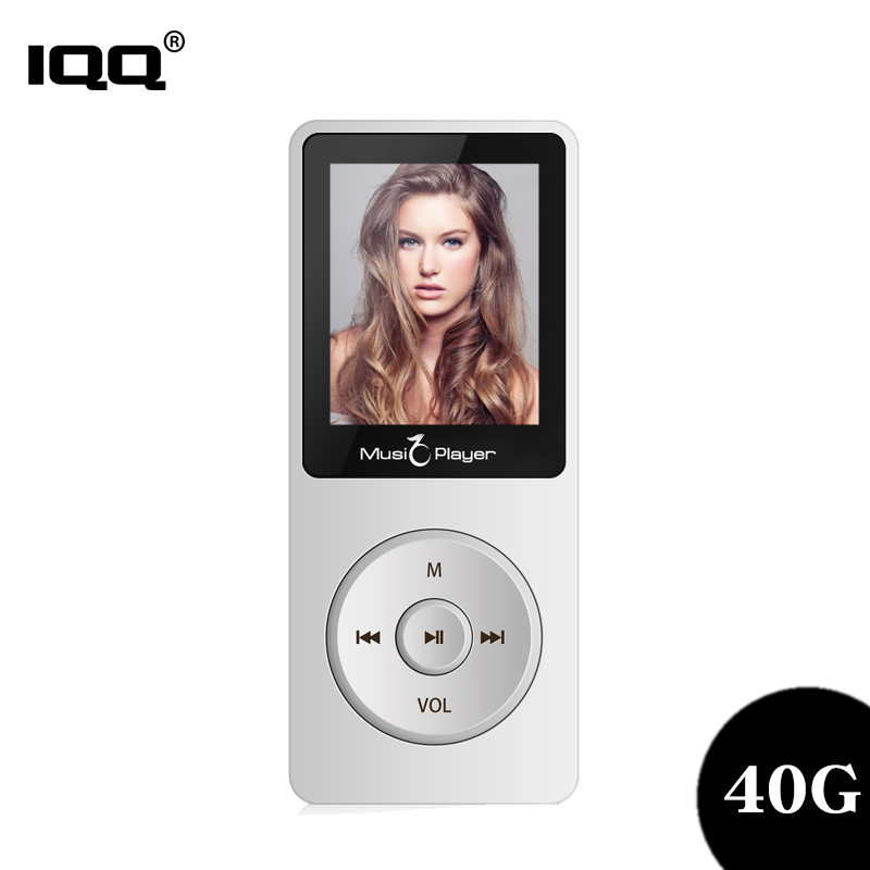 IQQ New Version Thin MP3 Player X02 Built-in 40G And Speakers Can Play 80H Lossless Portable Walkman With Radio /FM/ Recording