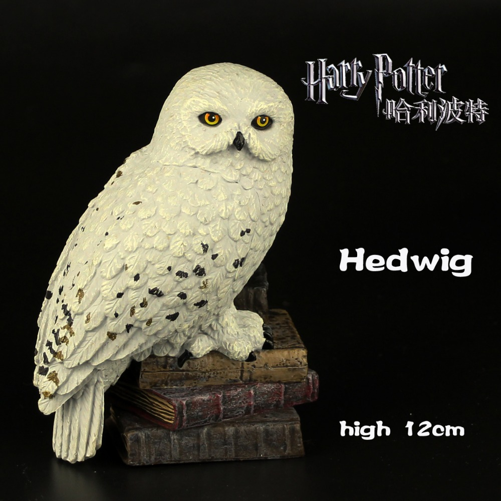 2017 noble collection latest version harry potter owl hedwig collection model toys statue doll