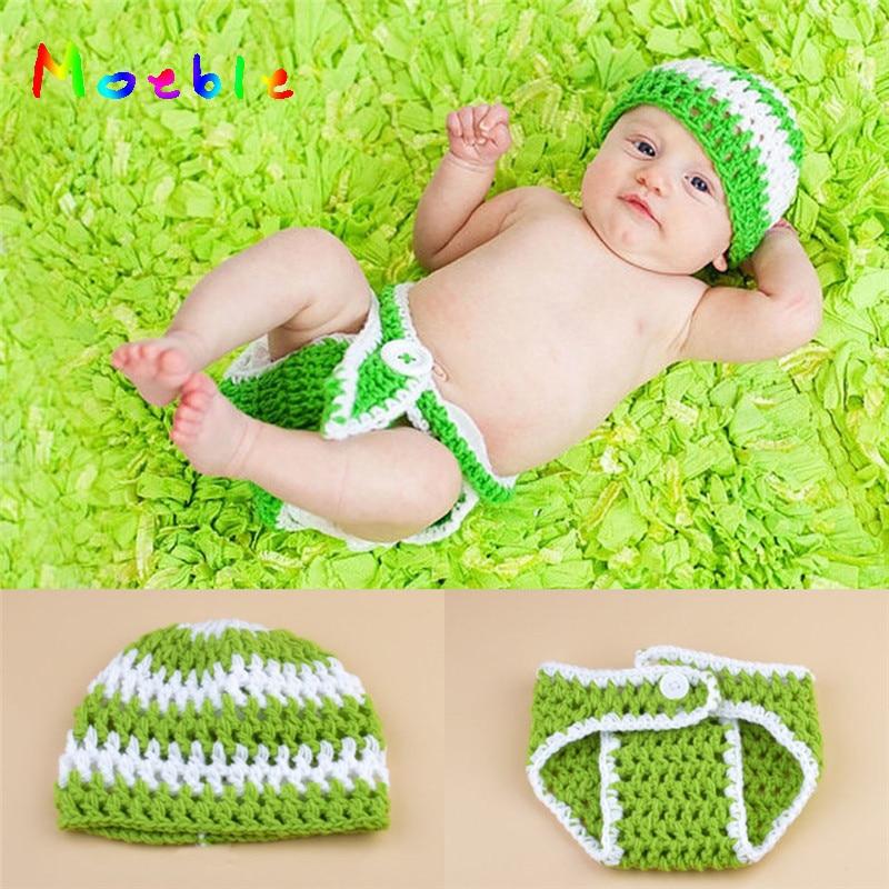 ᐃHandm sombrero bebé o niña verde sombrero y cubierta del pañal set ...