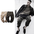 2017 New Fashion Mens Cargo Pants Rubber Elastic Scimitar Camo CargoPants Man Calf-Length Camouflage Beggars Casual Pants MQ126