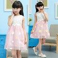 Anlencool Korean version high quality Brand  summer sun flower girl dress Children's Day Dance Girls dresses baby girl clothing