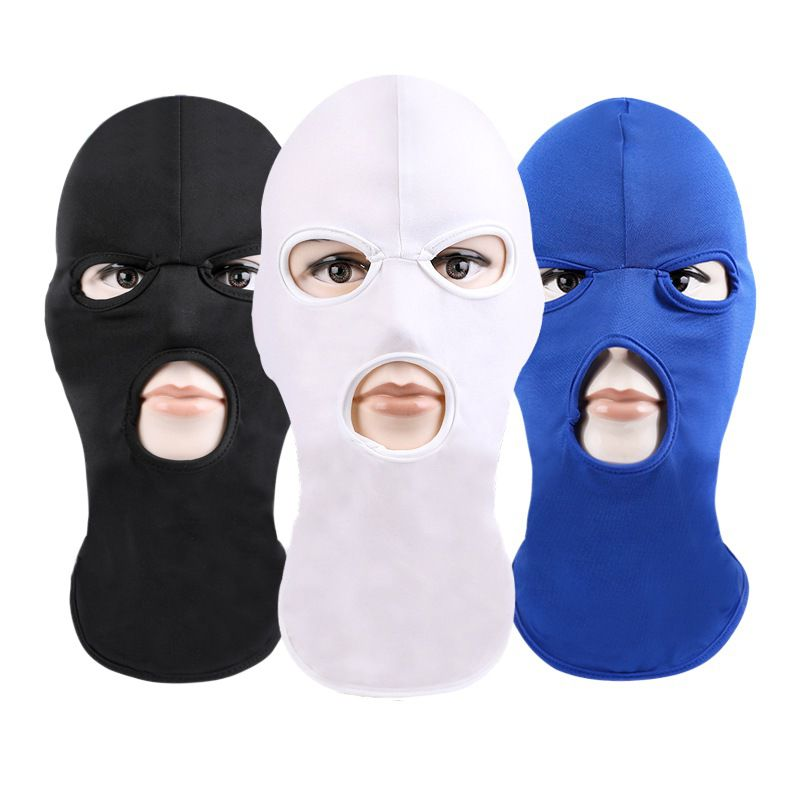 Surf Orders Are Welcome. Paintball Gign Ski Swat 100% True 3 Holes Police Mask / Hood Color Black Police Raid Airsoft Snow Special Forces