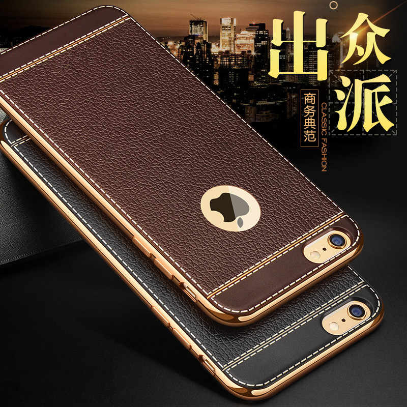 Luxury Soft Silicon Gold Plating case for iPhone X 8 6 6S Plus 7 Cases for iPhone Xs max Xr Case Plus Protective back cover