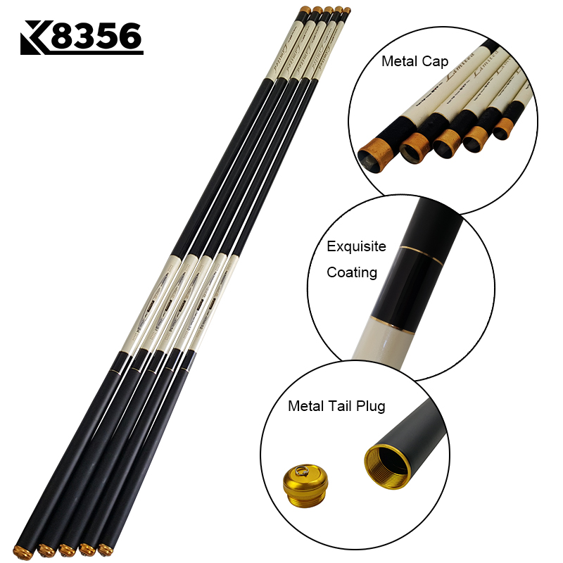 K8356 30T Telescopic Carp Fishing Rod Carbon Fiber Taiwan Fishing Rods Ultralight Ultrahard Stream Rod Pole 3.6 4.5 5.4 6.3 7.2