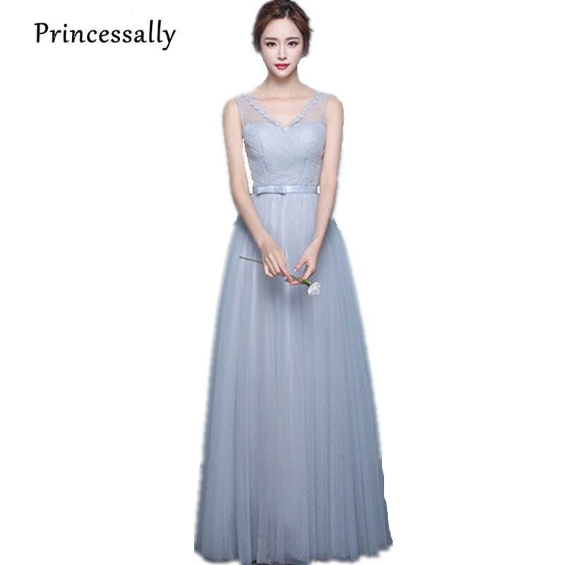 buy bridesmaid dresses long light grey sleeveless pleat robe demoiselle d. Black Bedroom Furniture Sets. Home Design Ideas