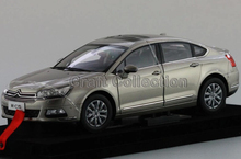 * 2015 Golden Gray 1/18 Citroen C5 Sedan Alloy Car New Coming Simulation Model 2 Color Available Diecast Mini Vehicle