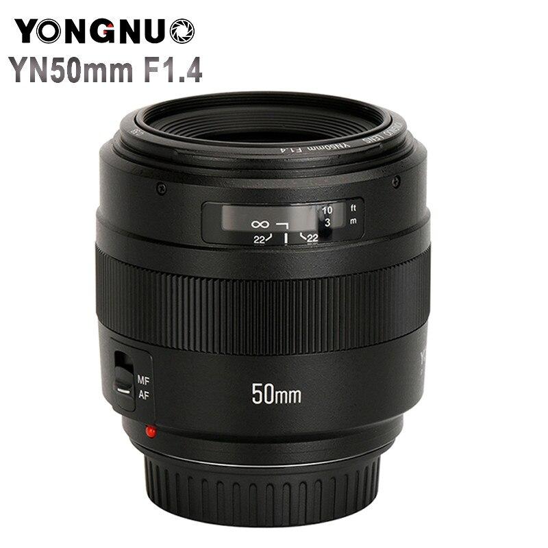 YONGNUO YN50mm F1.4 Objectif Standard Premier Grande Ouverture Autofocus (AF)/Mise Au Point Manuelle (MF) 50mm Lentille pour Canon EOS Caméra