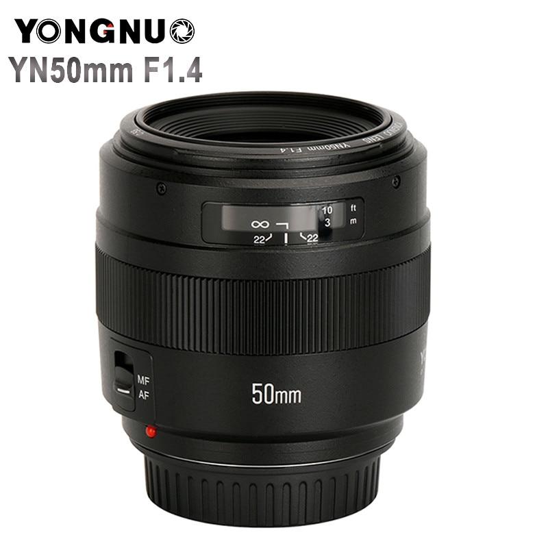 YONGNUO YN50mm F1.4 Standard Prime Lens Grande Apertura di Messa A Fuoco Automatica (AF)/Messa A Fuoco Manuale (MF) 50mm Lens per Canon EOS Fotocamera