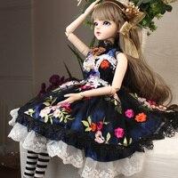 Кэти 18 суставов Наряжаться 60 см BJD девушка игрушки для девочек подарок на день рождения BBGirl Sd кукла Bjd куклы Детский костюм макияж куклы