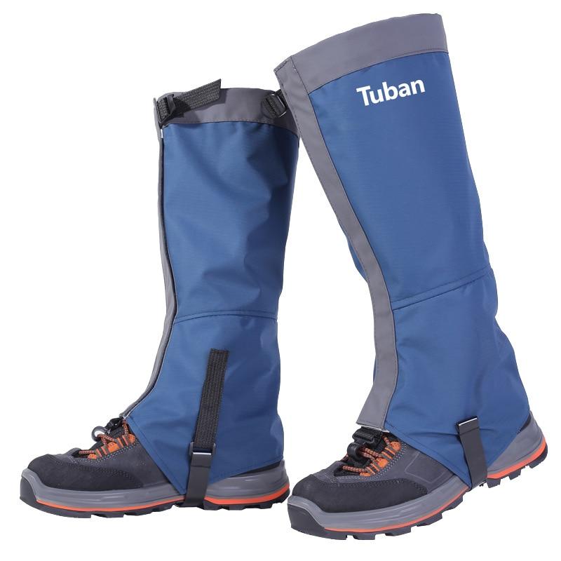 الشتاء في الهواء الطلق للماء الثلج يغطي الحذاء تسلق الجبال ، ورمال الصحراء ، والمشي ، والتزلج ، والتخييم الساق تغطية شين الحرس الرجال والنساء