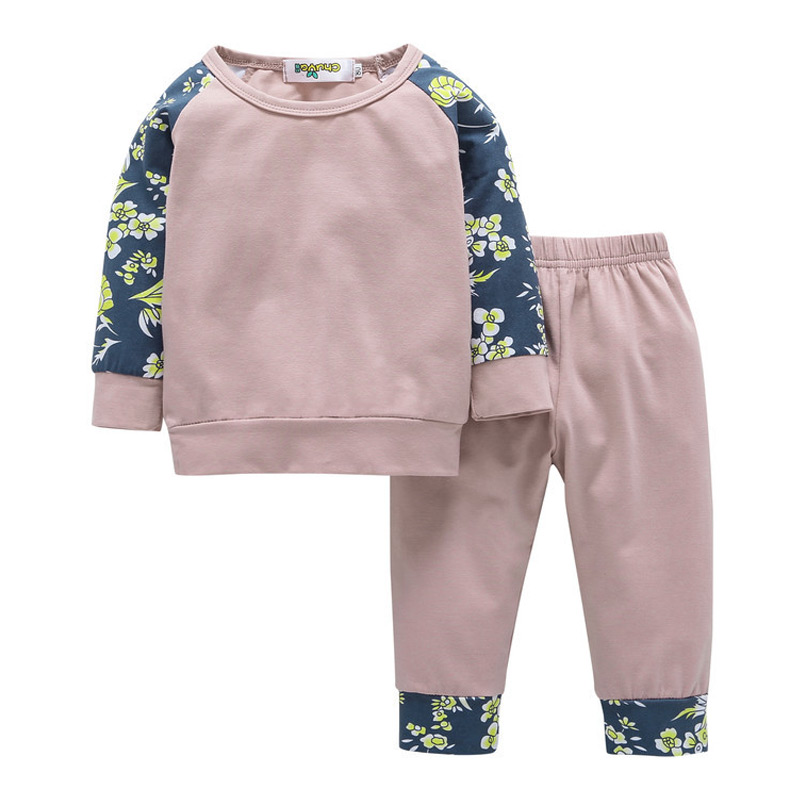 CHUYA 2018 Kids Clothing Set Baby Boy Girls Clothes For Newborns Casual Cotton Tops+Girls Pants Baby Girls Clothing Infant