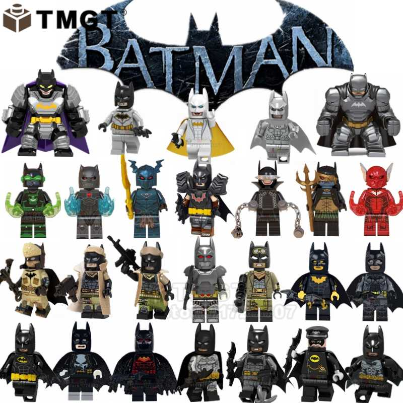 Single Batman Blocks Red Son Batman-Tire Armor Dark Nights: Metal Merciless The Bat Who Laugh Building Blocks Toys For Children