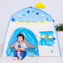 купить Game House Play Tent Princess Secret Castle Indoor Outdoor Toys Girls Boys Portable Foldable Playhouse Toy For Children Kids дешево