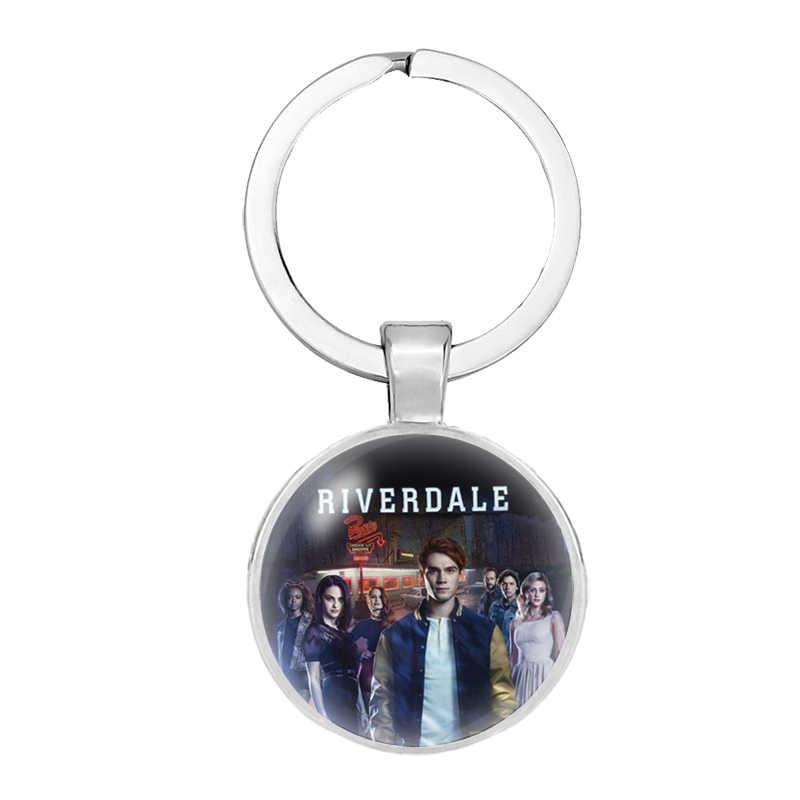 Thời Trang Mới Riverdale Cá Tính Ảnh Kính Cabochon Dome Trái Tim Móc Khóa Handmade Túi Đựng Xe Móc Treo Chìa Khóa Nữ Trang Sức Nam