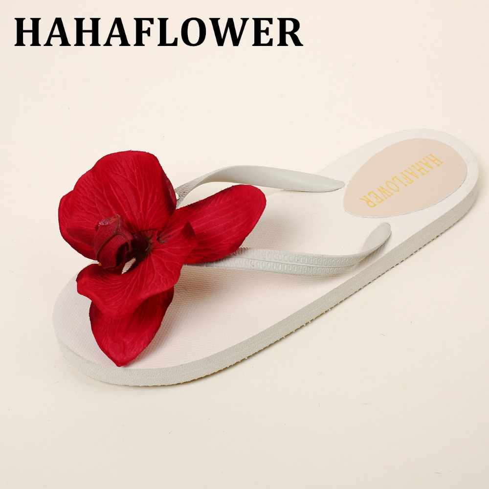 56a07b303d2de HAHAFLOWER women flip flops Beach sandals fashion flower slippers summer women  flats shoes woman flat sandals A8